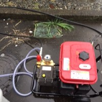富士市伝法台所排水詰まり修理