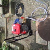 裾野市佐野 排水管高圧洗浄作業