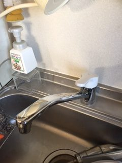 浜松市東区中里町  キッチン水栓交換